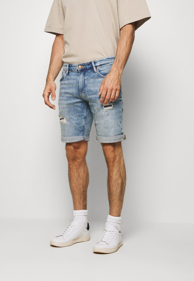 Denim shorts - heavy ston