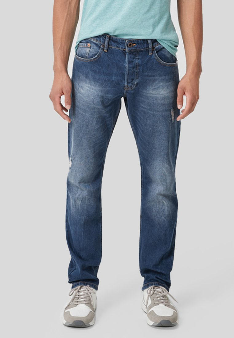 Q/S designed by - PETE - Straight leg jeans - dark blue denim