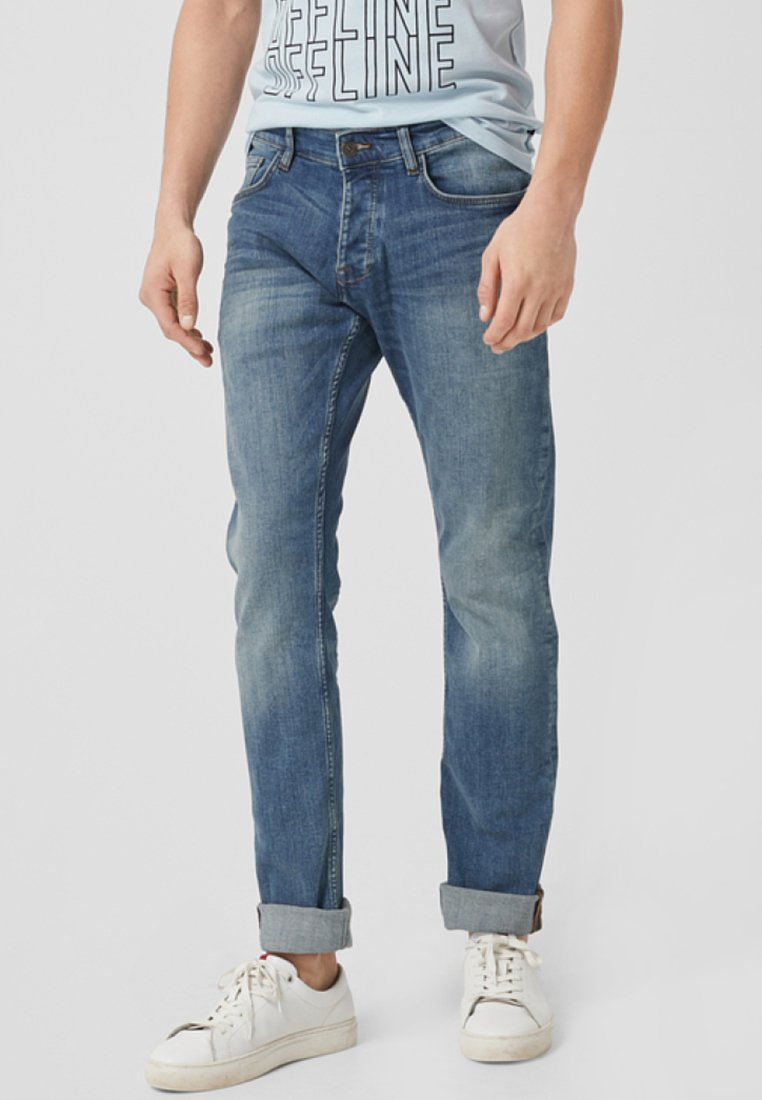 Q/S designed by - Straight leg jeans - blue denim