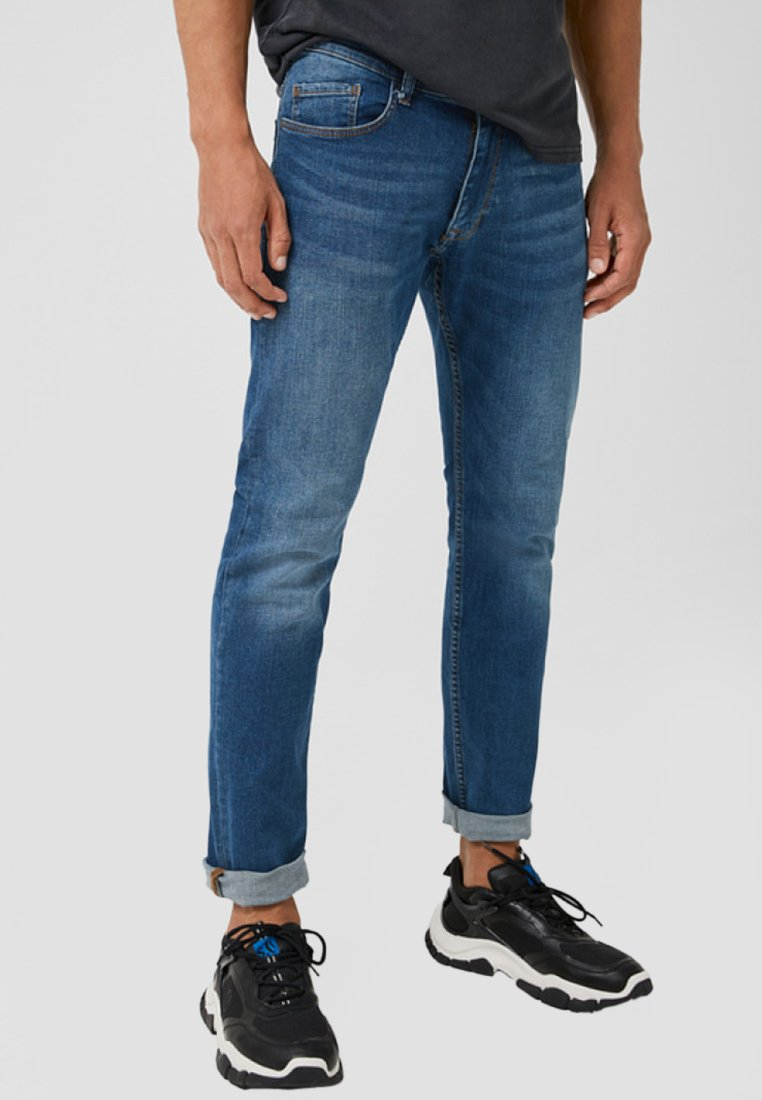 Q/S designed by - Slim fit jeans - mid blue heavy sto