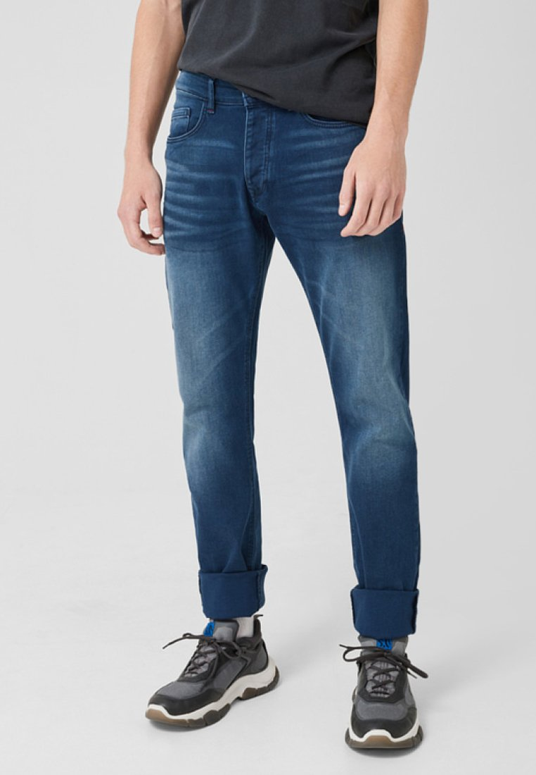 Q/S designed by - MIT WASCHUNG - Straight leg jeans - blue