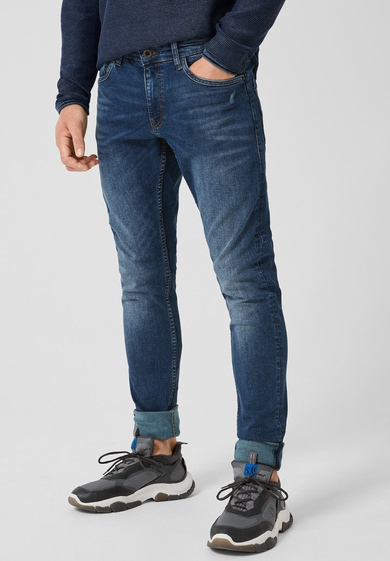 Q/S designed by - Slim fit jeans - mid blue