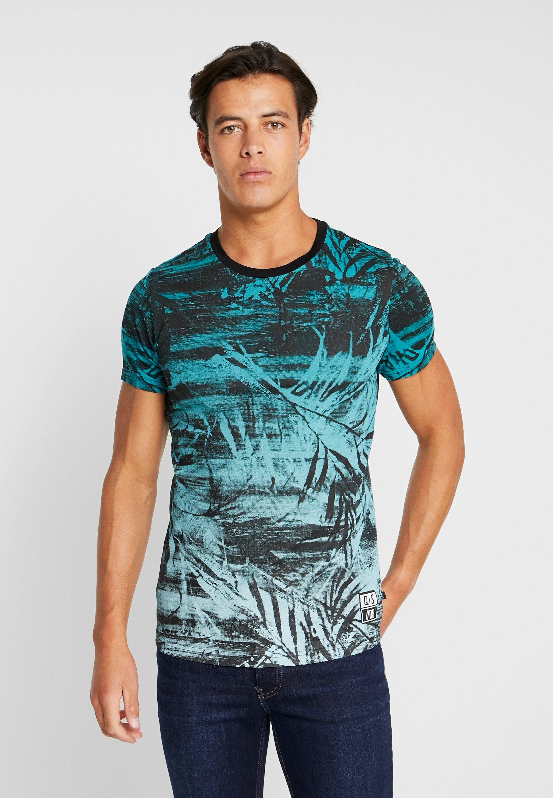 Q/S designed by KURZARM - Camiseta estampada turquoise