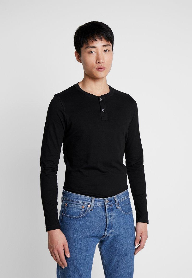 Q/S designed by - Top sdlouhým rukávem - black