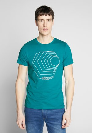 KURZARM - T-Shirt print - harbor blu