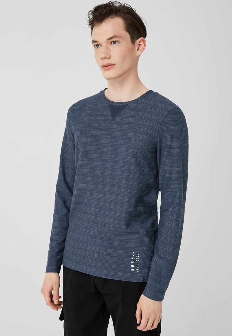 Q/S designed by - MIT RIPPSTRUKTUR - Long sleeved top - blue nights melange