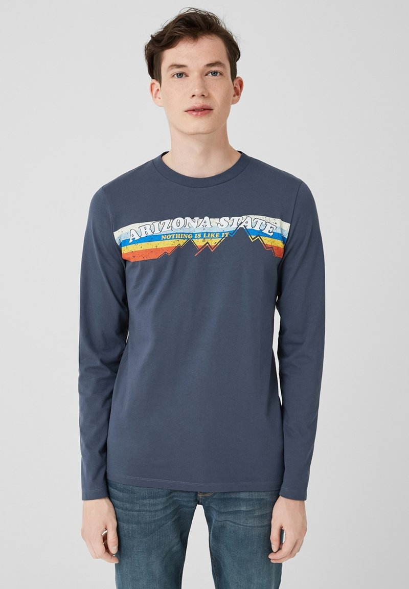Q/S designed by - LONG SLEEVE - Long sleeved top - dark blue