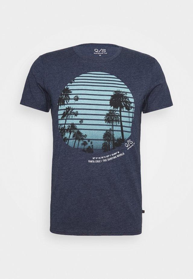 Print T-shirt - saphire blue