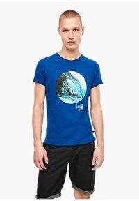 Q/S designed by - Print T-shirt - palace blue - 0