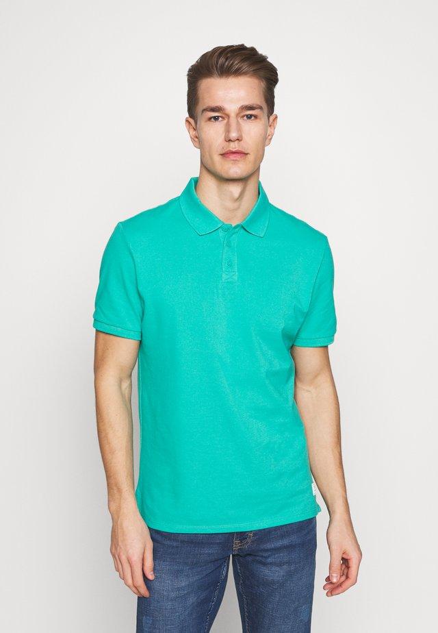 T-SHIRT KURZARM - Poloshirt - blue green