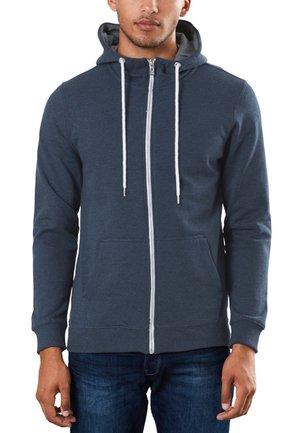 veste en sweat zippée - blue nights melange
