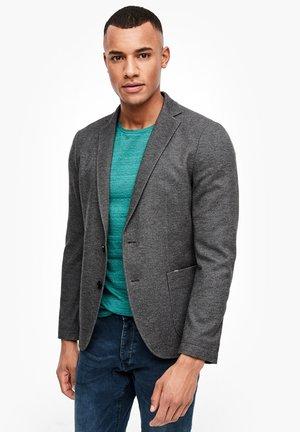 Blazer jacket - black melange