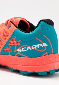 Scarpa - SPIN  - Trail running shoes - bright red/sea - 6