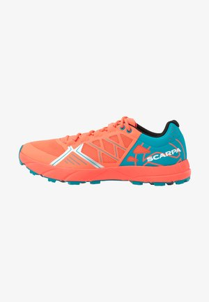 SPIN  - Trail running shoes - bright red/sea
