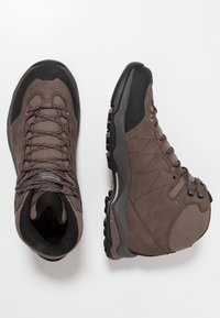 Scarpa - MORAINE PLUS MID GTX - Scarpa da hiking - charcoal/dark plum - 1