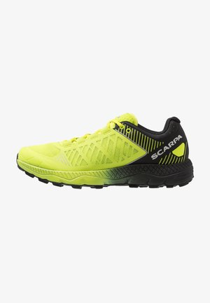 SPIN ULTRA - Trail running shoes - acid lime/black