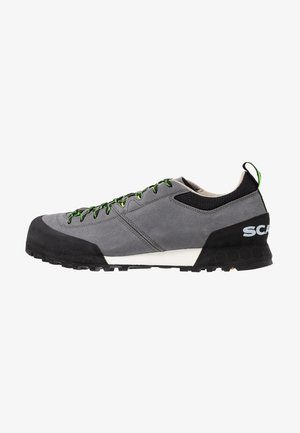 KALIPÈ - Hiking shoes - smoke/green fluo