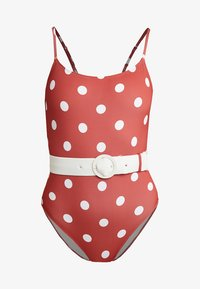 Solid & Striped - THE NINA BELT SMALL DOTS - Swimsuit - riad cream - 4