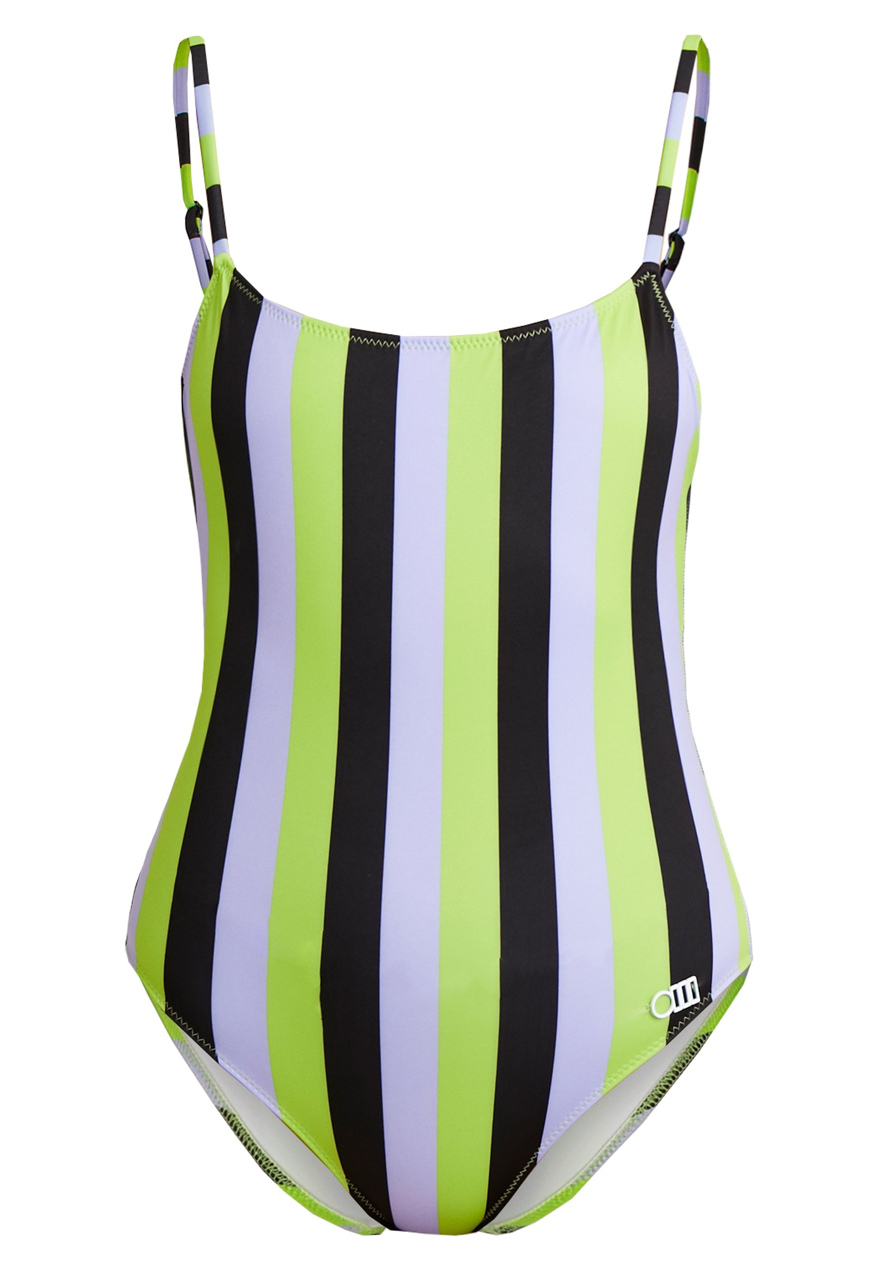 The StripeMaillot Nina black Solidamp; Striped Bain Lavender lime De 2beWEIDHY9