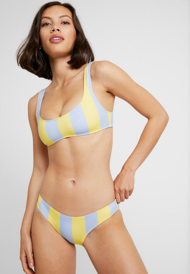 THE ELLE STRIPE - Bikinitoppe - light yellow/light blue