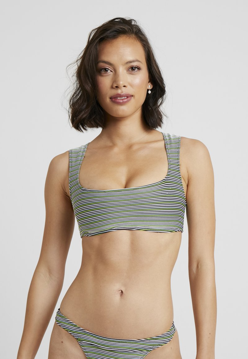 Solid & Striped - THE CLEO - Bikini top - white/black