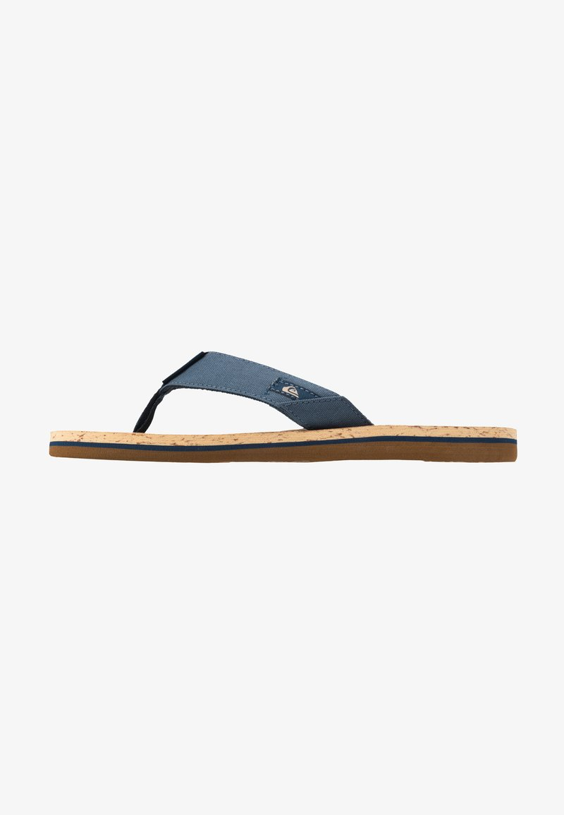Quiksilver - MOLO ABYSS - T-bar sandals - blue/brown