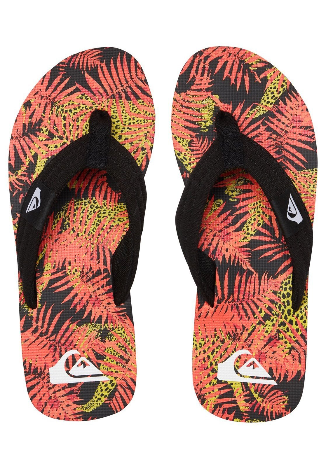 Quiksilver Molokai Layback - Tongs Black/red/yellow