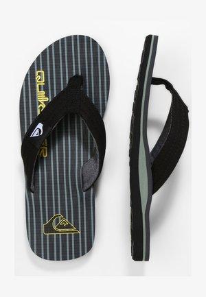 MOLOKAI LAYBACK - Pool shoes - black/grey/green
