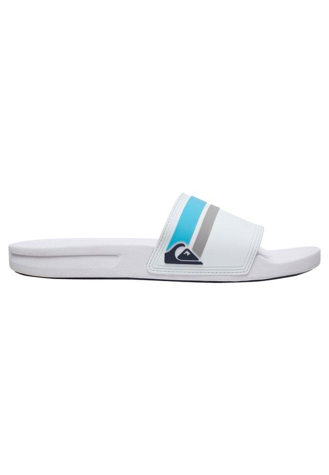 RIVI SLIDE - Sandales de bain - white/grey/grey