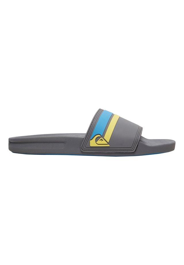 RIVI SLIDE - Sandales de bain - grey/blue/yellow