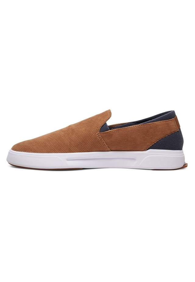 QUIKSILVER™ SURF CHECK PREMIUM - CHAUSSURES SLIP-ON POUR HOMME A - Instappers - brown/brown/white