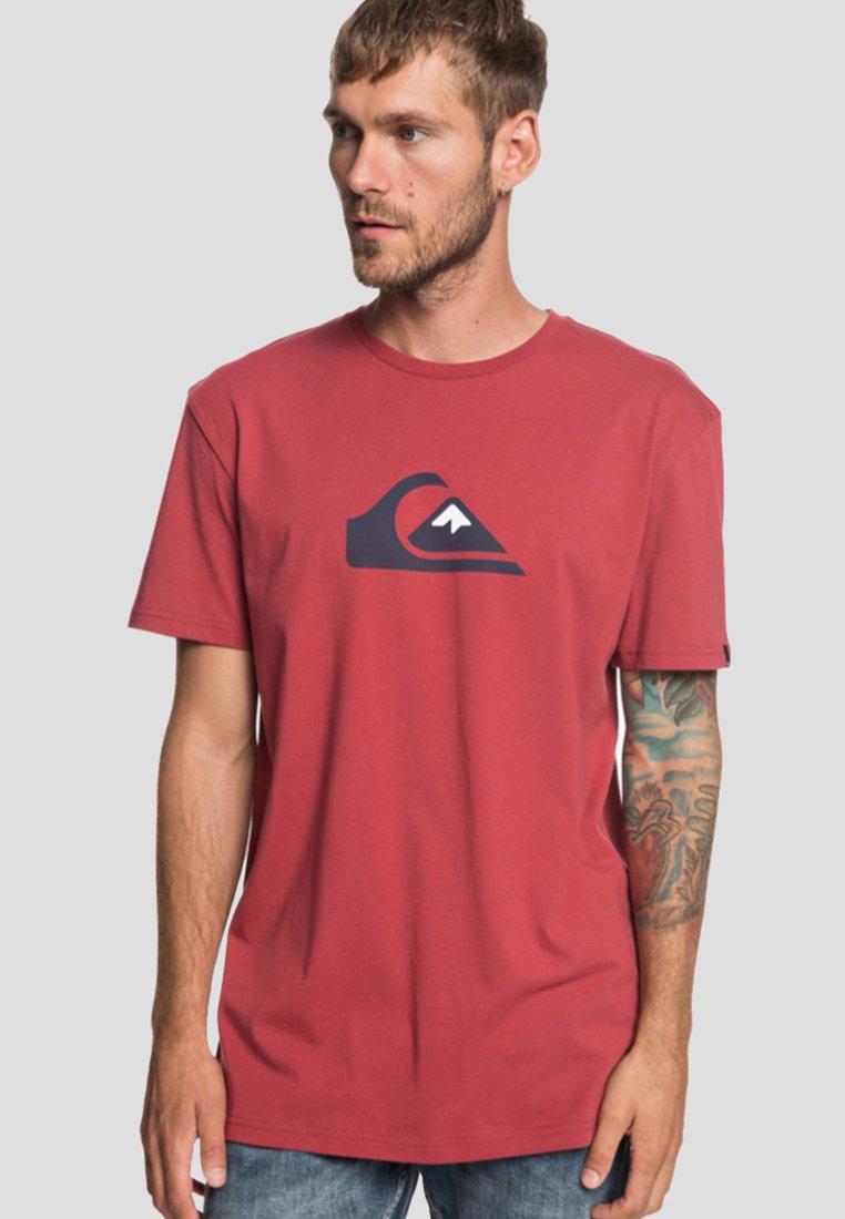 Imprimé And W shirt Quiksilver M Red Brick TeeT 8NnOwvm0