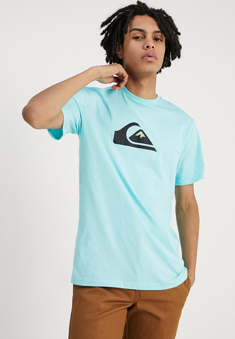 Quiksilver - M AND W TEE - Print T-shirt - aqua splash