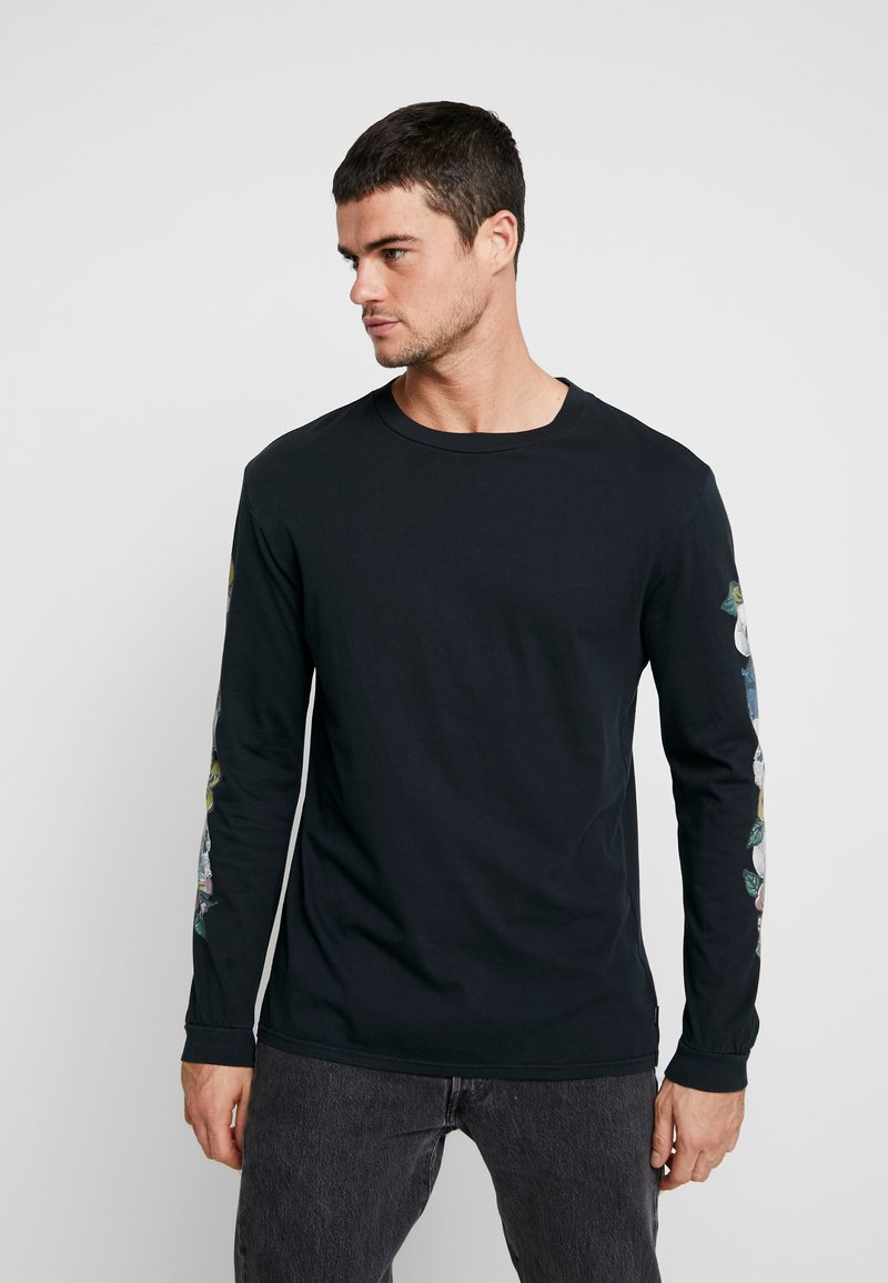 Quiksilver - OGSKULLCHAINLS TEES - Long sleeved top - black