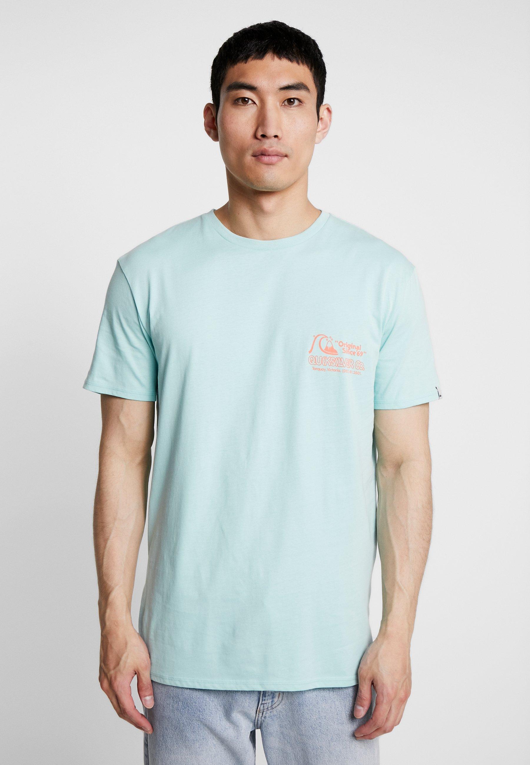 Wax Turquoise Daily shirt Pastel TeeT Quiksilver Imprimé tQrdhs