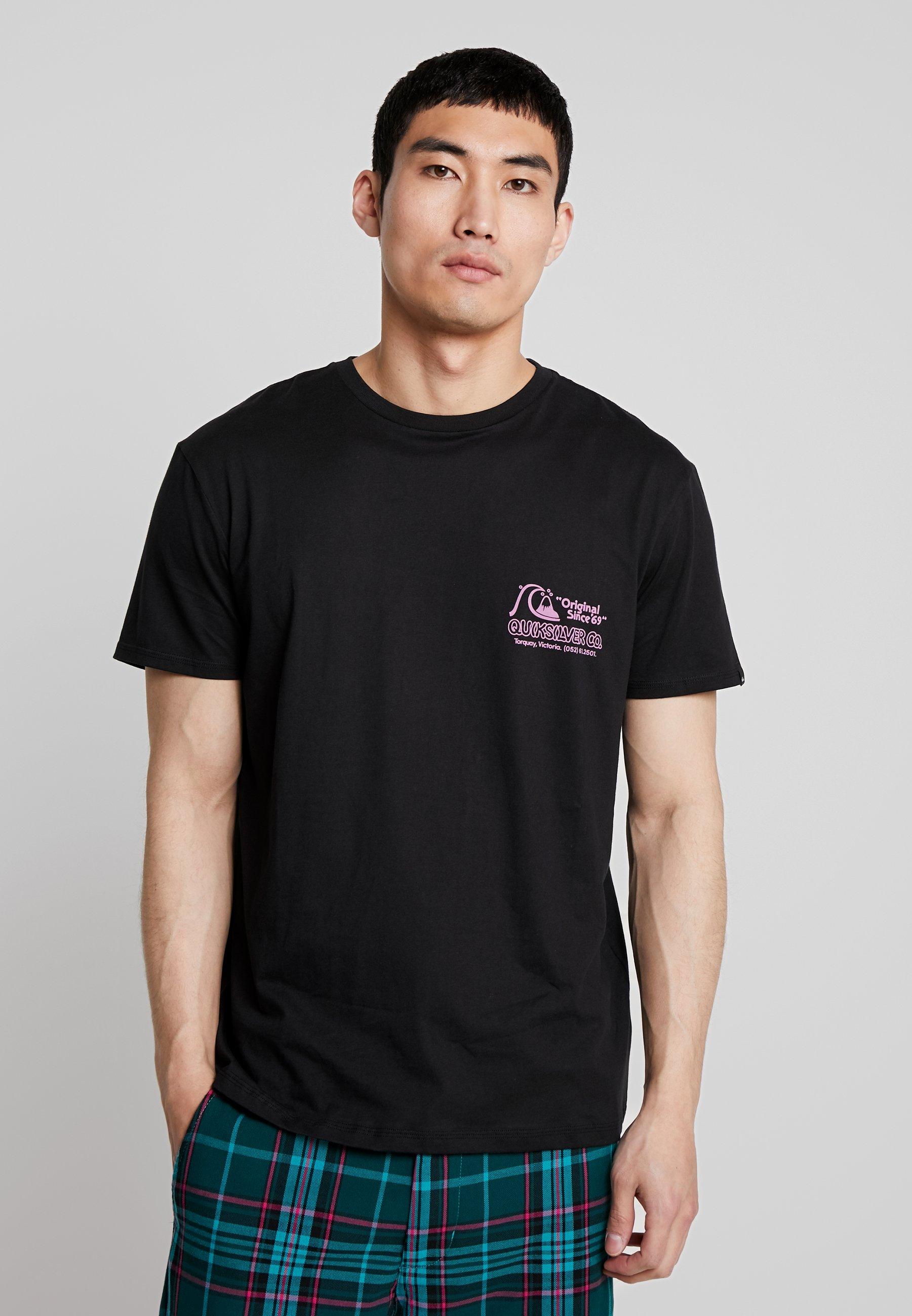 Daily Wax Con Stampa Quiksilver TeeT Black shirt BdCxorQWe