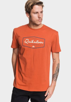 REGULAR FIT - T-shirt print - burnt brick