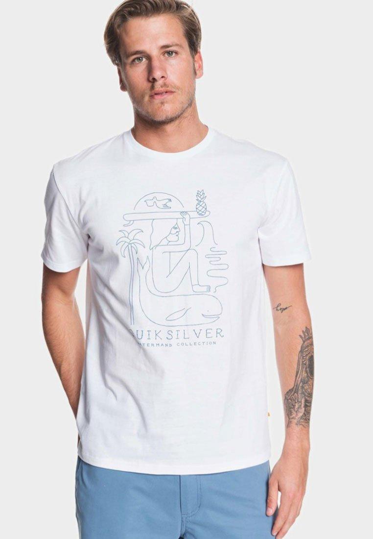 Quiksilver White Imprimé Vibes AliveT shirt 3jALqRc45