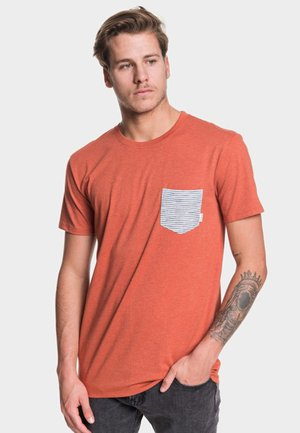 MODERN FIT - Print T-shirt - burnt brick heather