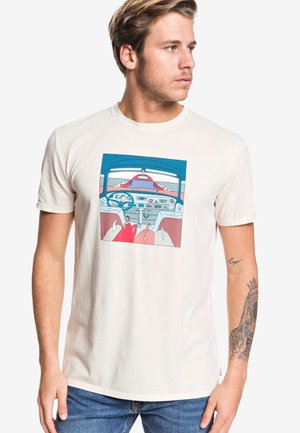 LOST BOARDS  - Print T-shirt - beige