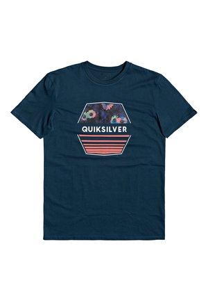 DRIFTAWAYSS - Print T-shirt - majolica blue
