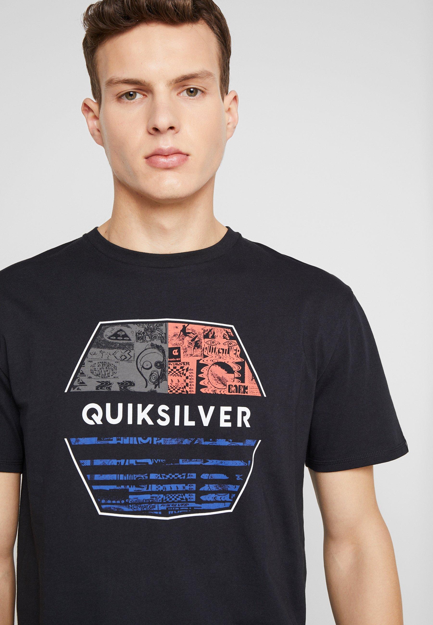 Quiksilver DRIFTAWAYSS - T-shirt z nadrukiem - black