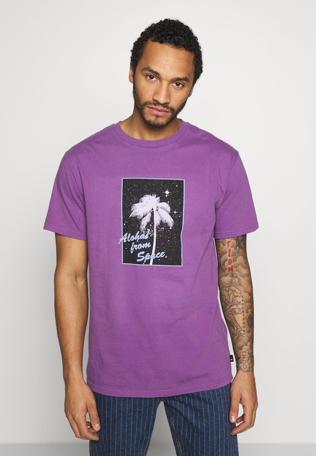 ALOHASS - T-shirt con stampa - crushed grape