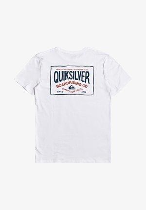 QUIKSILVER™ CLOUD CORNER - T-SHIRT FÜR MÄNNER EQYZT05772 - T-shirt imprimé - white