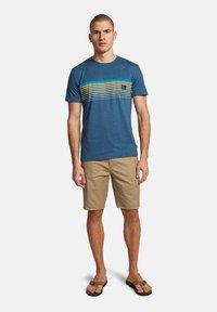 Quiksilver - Print T-shirt - majolica blue heather - 1