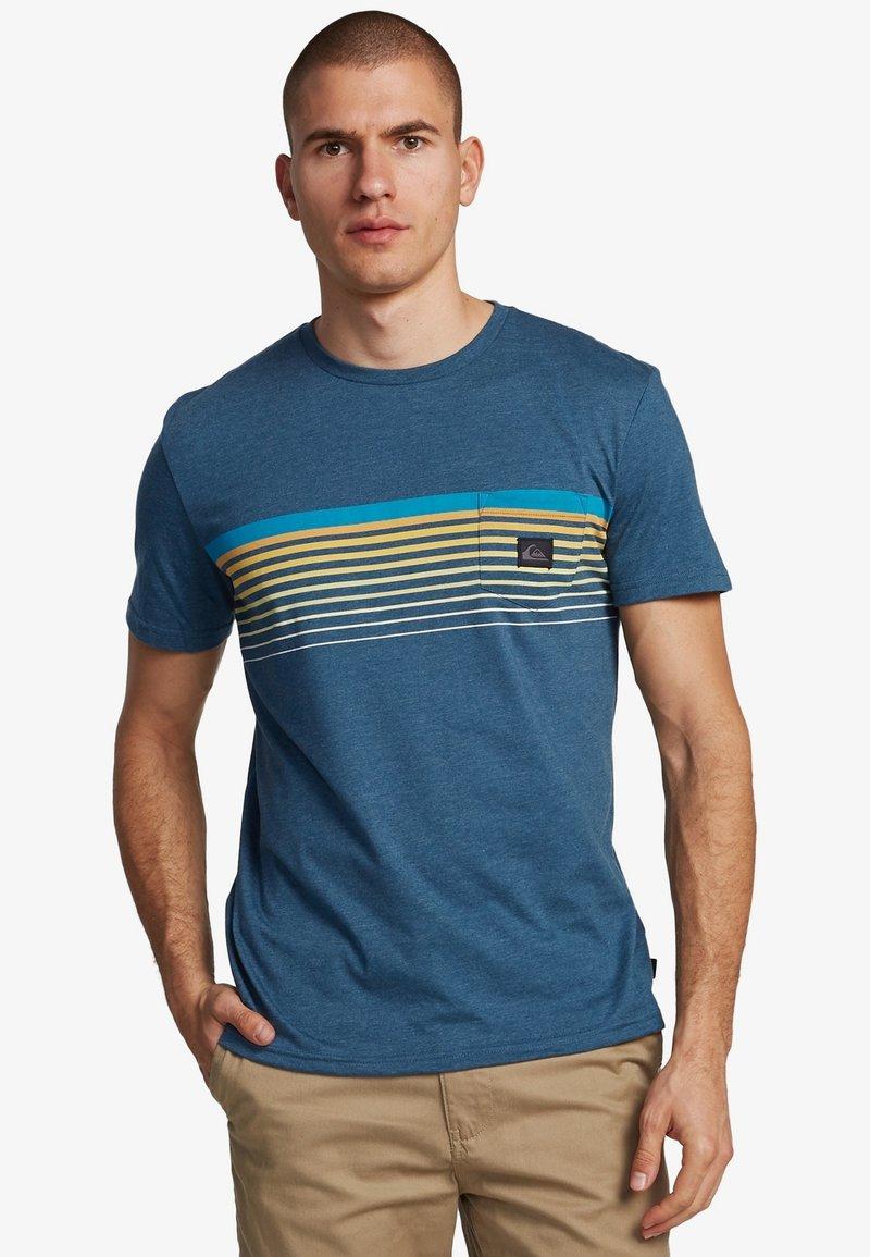 Quiksilver - Print T-shirt - majolica blue heather