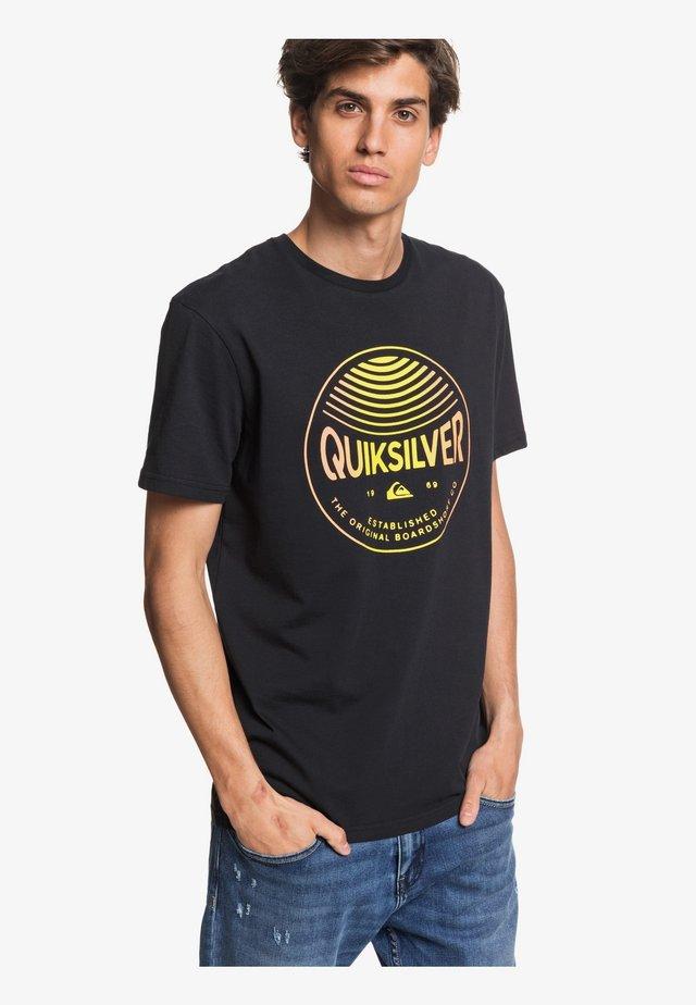 QUIKSILVER™ COLORS IN STEREO - T-SHIRT FÜR MÄNNER EQYZT05742 - T-shirt print - black