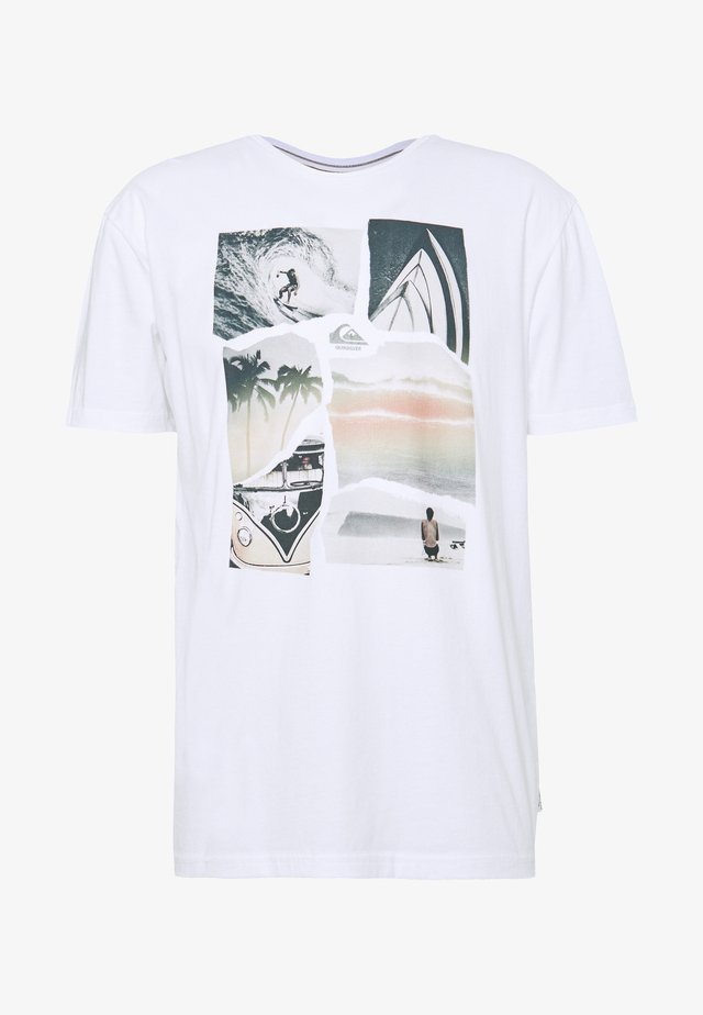 TORN APART - T-shirt con stampa - white