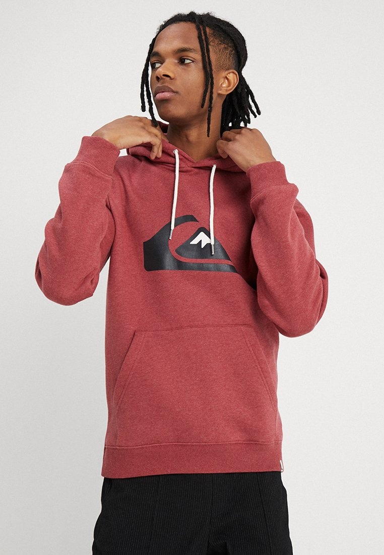 Quiksilver - BIG LOGO HOOD - Hoodie - brick red heather