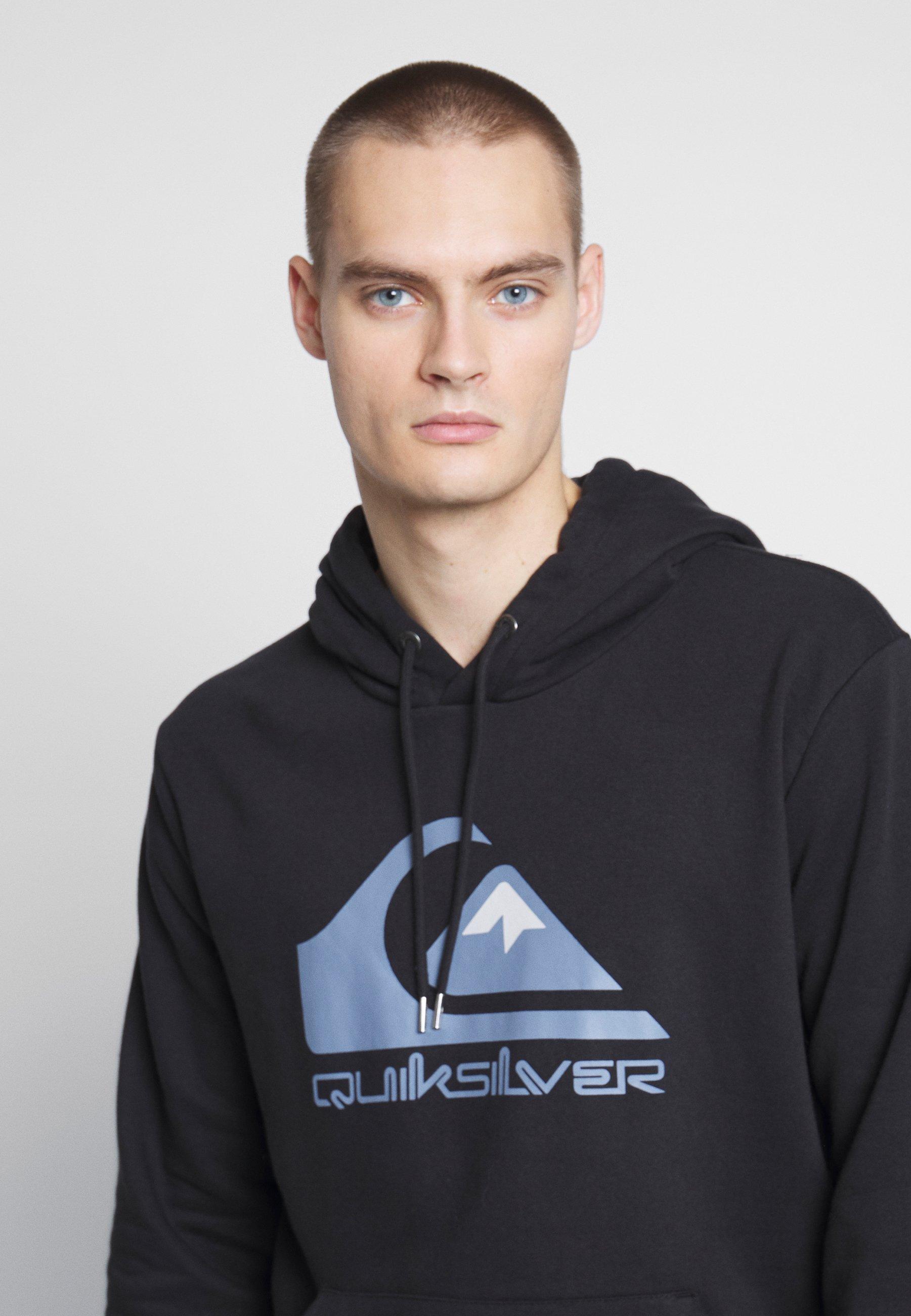Quiksilver COMPLOGOSCRFLEE - Bluza z kapturem - black